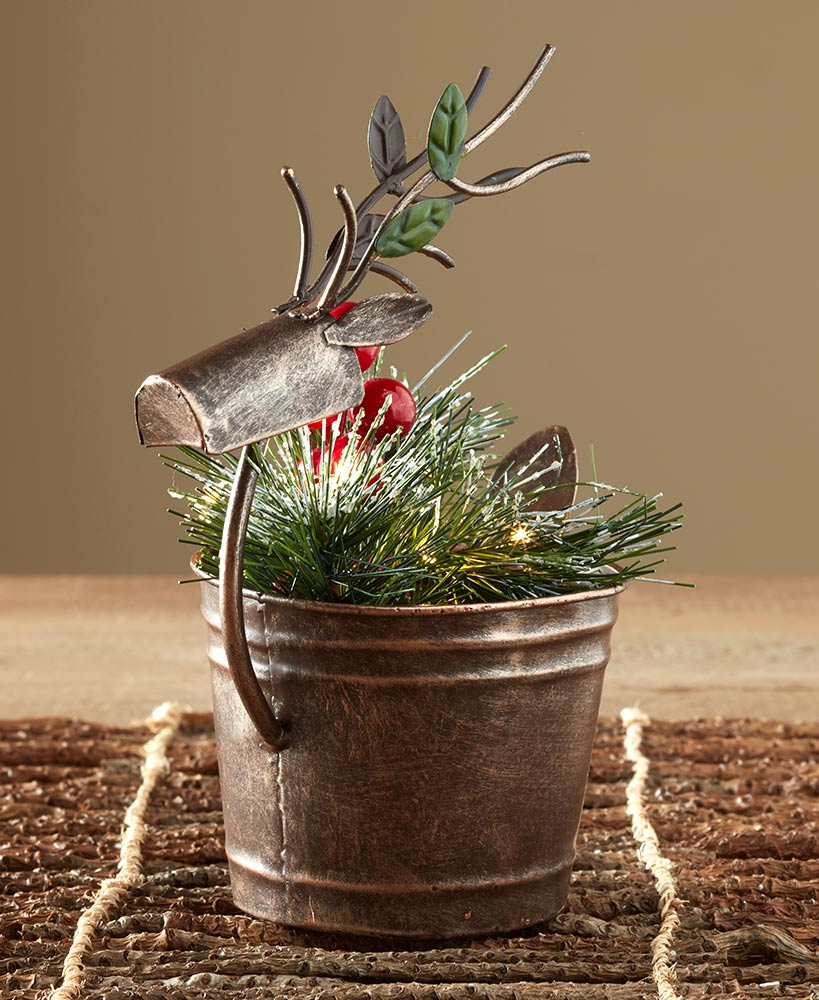 Lighted Holiday Reindeer Centerpieces