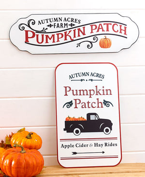 Metal Harvest Pumpkin Patch Signs