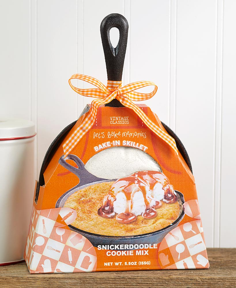 Cast Iron Skillet with Baking Mix - Packaged For Gift Giving