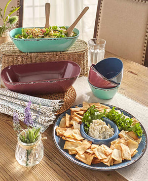 Rustic Melamine Serving Collection