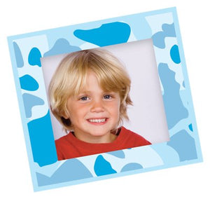 FunToSee Camo Combo Picture Frame Decals, Blue