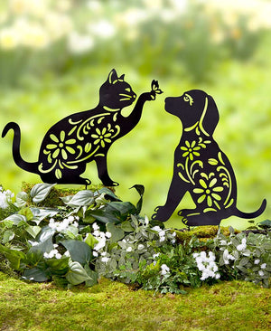 Animal Silhouette Stakes Choice of Cat, Dog, Bunny, or Frog