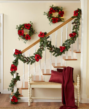 Lighted Wreath or Garland with Remote Control