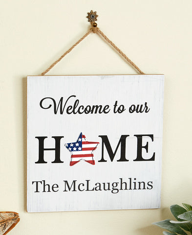 Personalized Interchangeable Home Sign