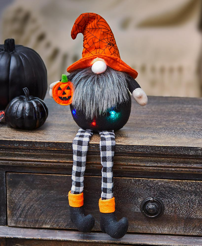 Lighted Halloween Gnomes