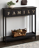 Galvanized Metal Sentiment Console Tables