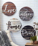 Embellished Sentiment Wall Plaques 15""