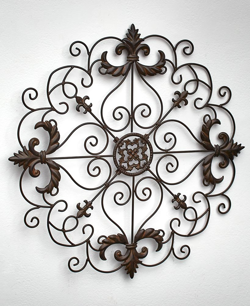 Scrolled Metal Wall Medallions