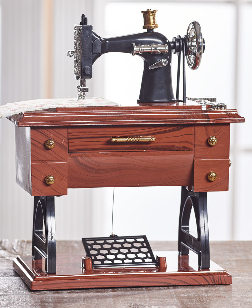 Vintage-Inspired Music Boxes Choice of Movie Projector, Piano, or Sewing Machine