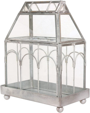 "Archway Glass Terrarium 8¾"" tall ½"" wide 4"" deep"