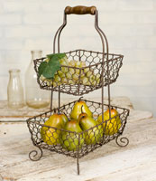 "Grayson Caddy Chicken Wire 10""W x 7""D x 16""H"