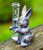 Cast Iron Bunny Rain Gauge / Vase Statuary
