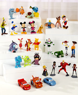 30 PC Disney Figurine Set PVC Favorite Animated Characters Exciting Adventures