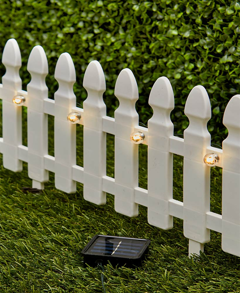"6-Ft. Solar Border Fence Panels 4 Sections, 19-1/2""W x 8-1/4""L, each"