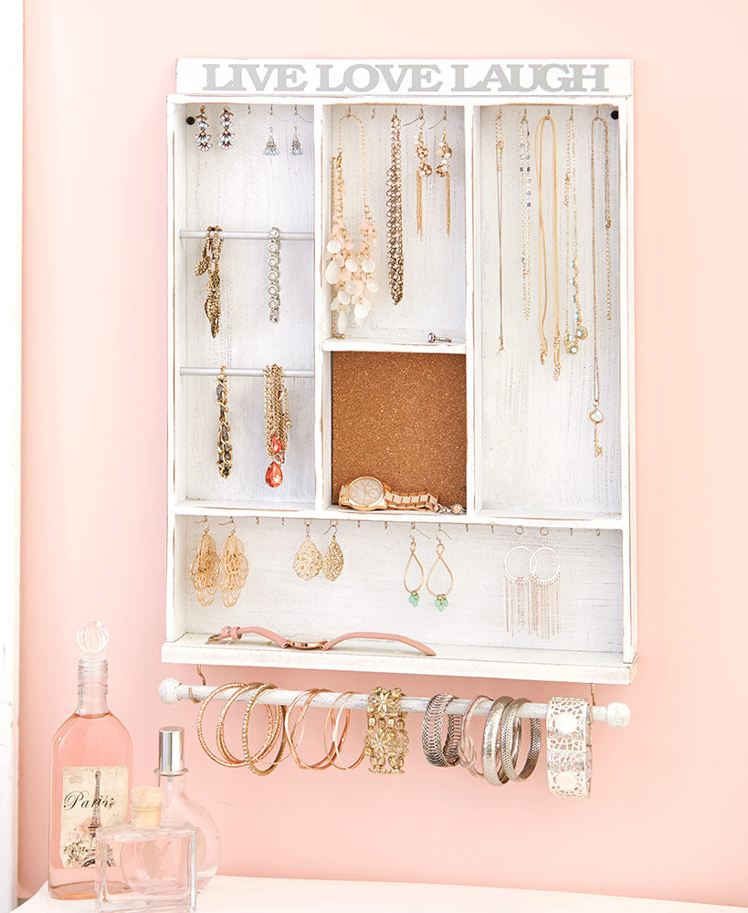 Hanging Wooden Jewelry Organizers