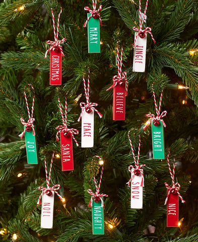 Set of 12 Tag Ornaments