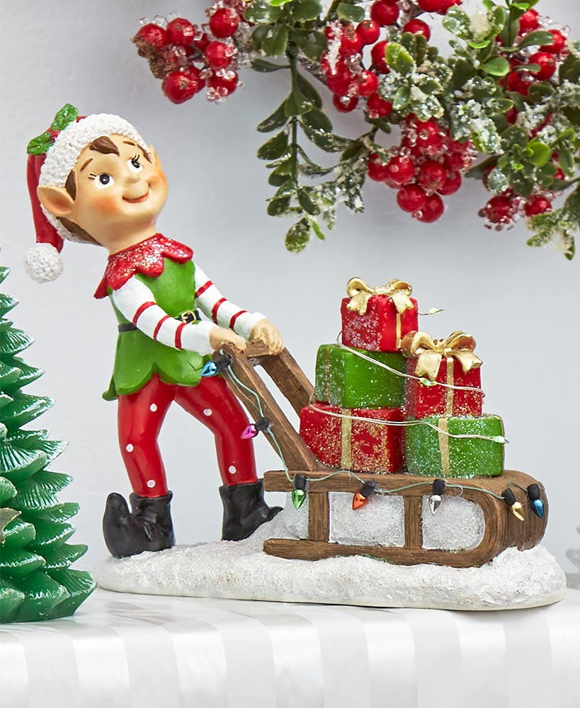 Holiday Cheer Elf Figurines or Stocking Holders