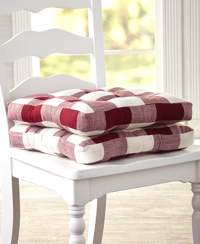 Buffalo Check Chair Pads