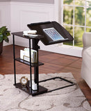 Adjustable Height Desk with Side Shelving