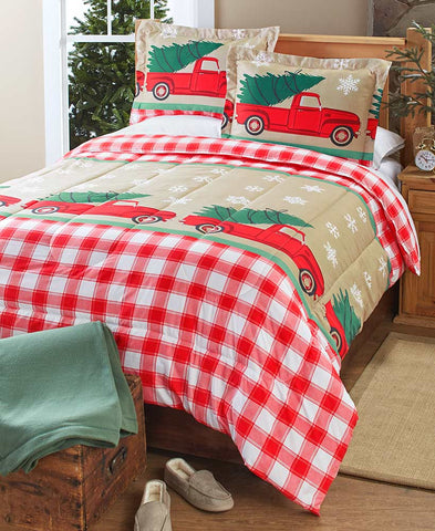 Tree Farm Comforter Set Choice of Full/Queen, or King Size