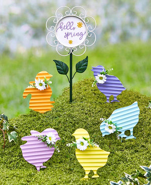 6-Pc. Chicks and Hello Spring Sign