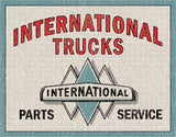 "International Trucks-P&S-Tin Sign 16"" W x 12.5"" H"