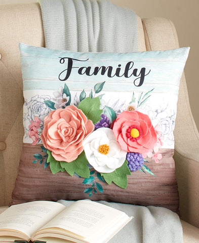 3-D Floral Accent Pillows