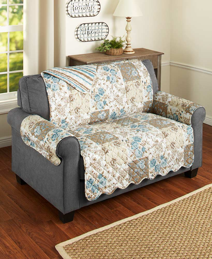 Floral Quilted Furniture Covers