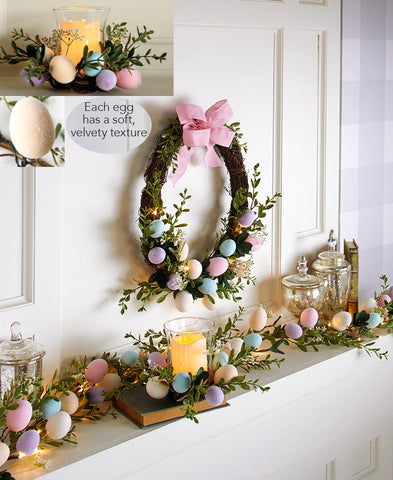 Lighted Velvet Easter Decor Collection