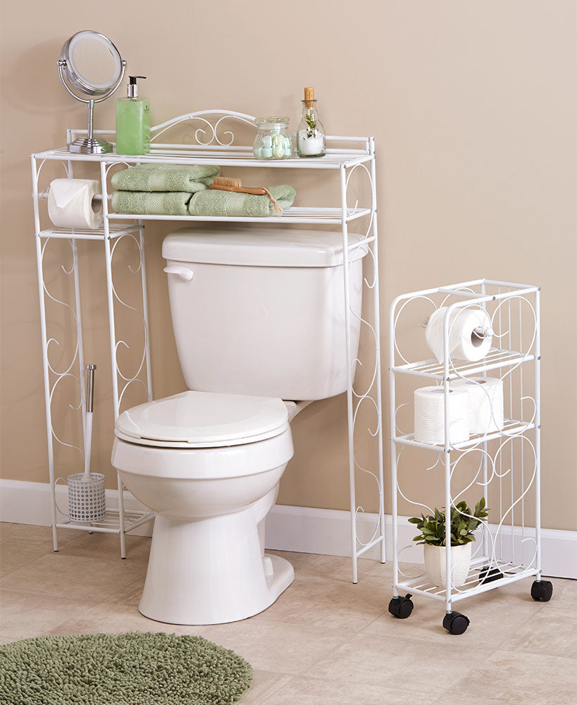 Scrolled Bathroom Spacesavers or Rolling Organizers