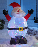 4-Ft Light and Motion Holiday Inflatables  Rotating Colored Lights