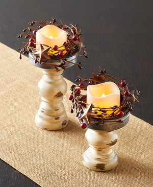 4-Pc. Country Candleholder Set