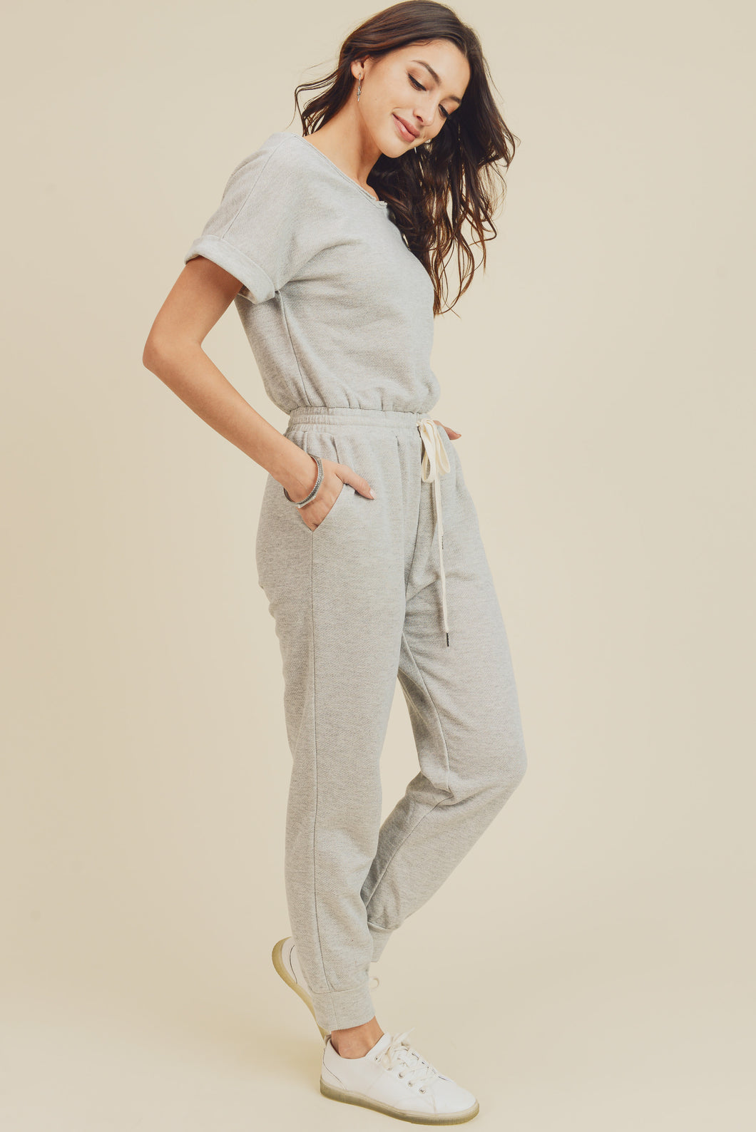 Comfy Days Drawstring Jumpsuit