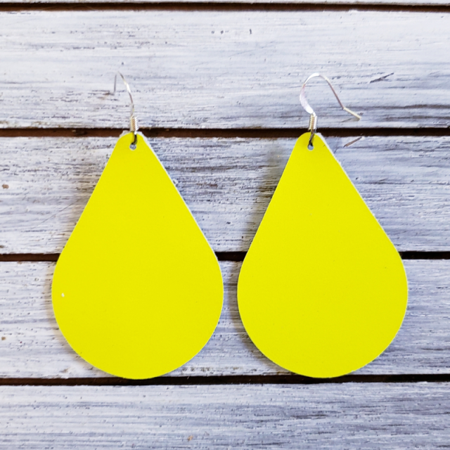 Neon Yellow Teardrop