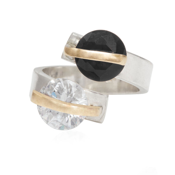 alter-ego-twin-black-white-crystals-adjustable-silver-ring