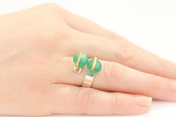 alter-ego-twin-green-crystals-adjustable-silver-ring-1