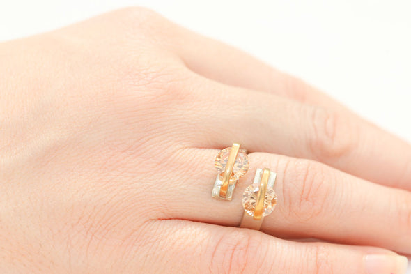 alter-ego-twin-peach-crystals-adjustable-silver-ring-1