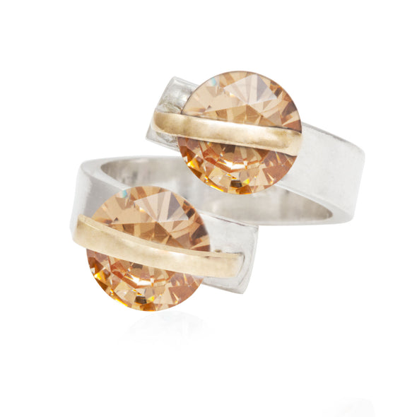 alter-ego-twin-peach-crystals-adjustable-silver-ring