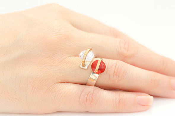 alter-ego-twin-red-white-crystals-adjustable-silver-ring-1