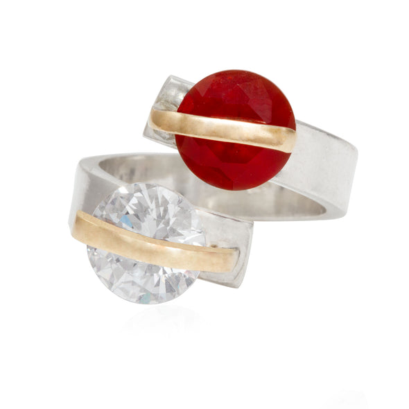 alter-ego-twin-red-white-crystals-adjustable-silver-ring