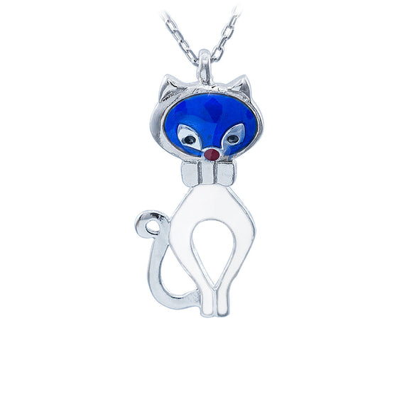 blue-head-purr-meow-silver-cat-necklace