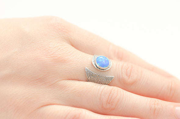 confidence-booster-fire-opal-adjustable-silver-ring-2