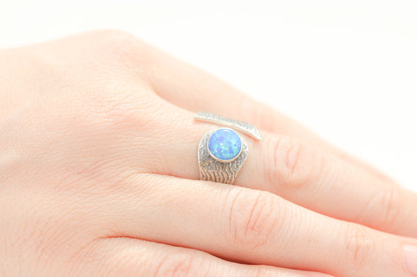 confidence-booster-fire-opal-adjustable-silver-ring-1