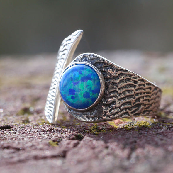 confidence-booster-fire-opal-adjustable-silver-ring-3