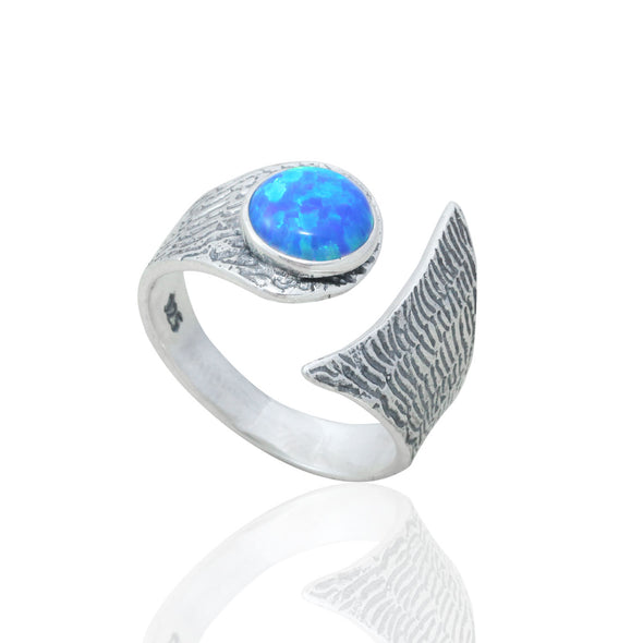 confidence-booster-fire-opal-adjustable-silver-ring