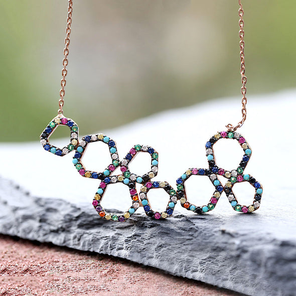dancing-circles-rainbow-rose-gold-plated-silver-necklace-2