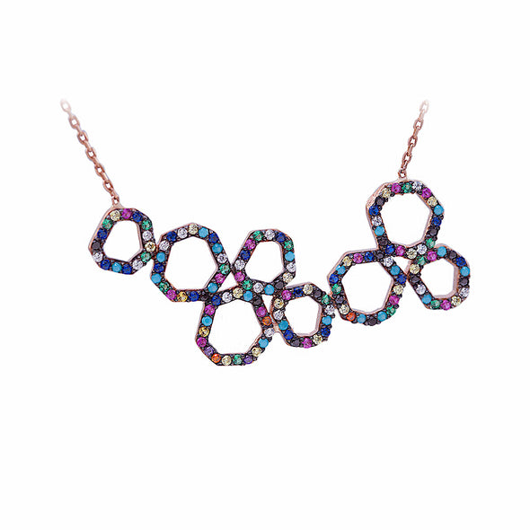 dancing-circles-rainbow-rose-gold-plated-silver-necklace