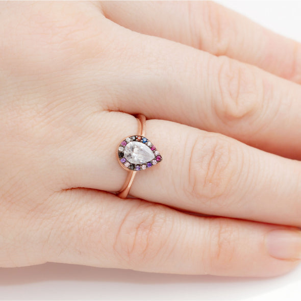 delicious-rainbow-pear-rose-gold-plated-silver-ring-1