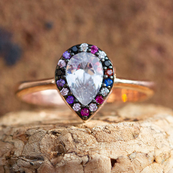 delicious-rainbow-pear-rose-gold-plated-silver-ring-2