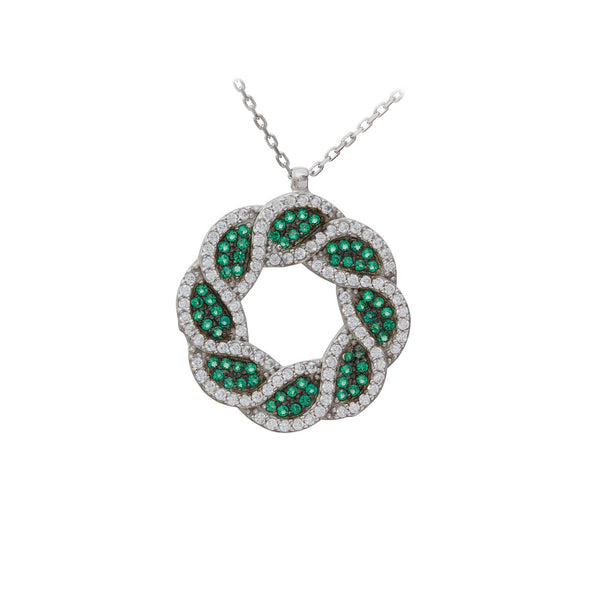 EverGreen Wreath Silver Necklace